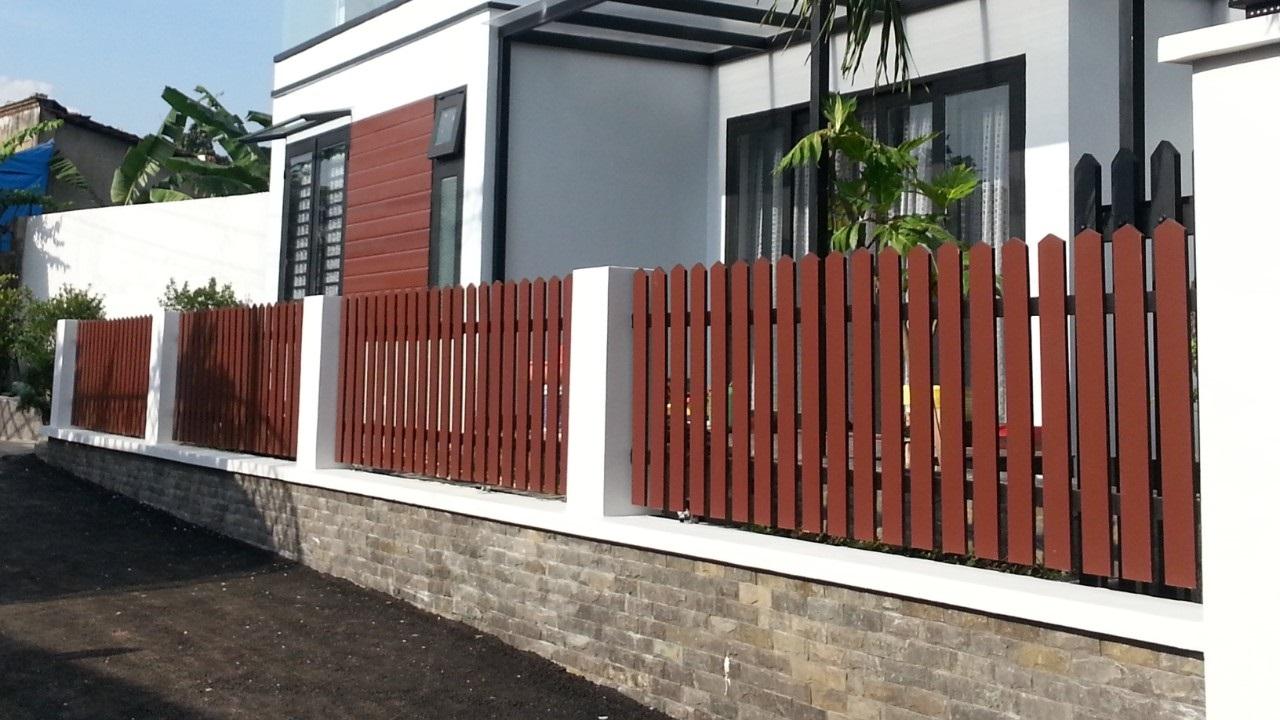 hàng rào gỗ